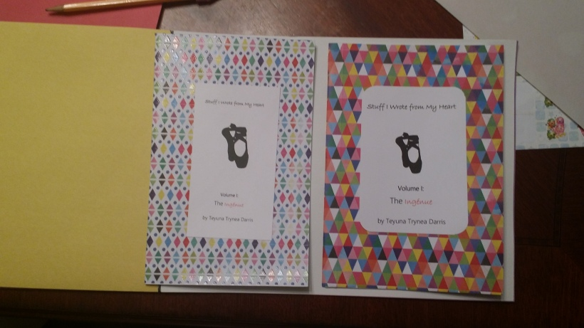 """Stuff I Wrote from My Heart"" handmade poetry chapbook designs by Teyuna T. Darris (@TDarris)."