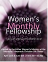 MTCLC Esther Women's Ministry Monthly Fellowship Flyer